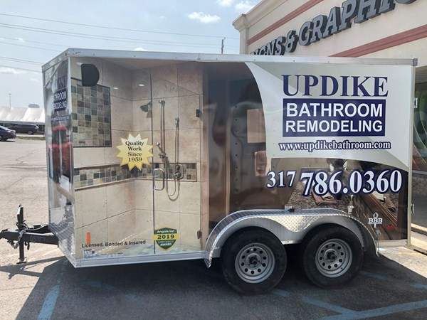 Full Vehicle Wraps, Vehicle Graphics, Wrap for Updike Bathroom Remodeling in Indianapolis