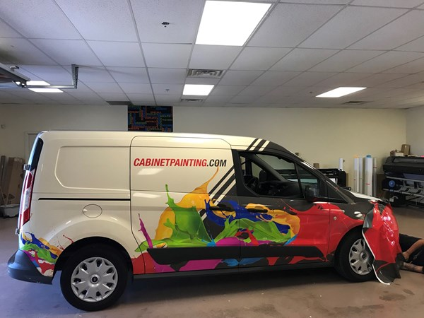 Full Vehicle Wrap for Cabinet Painting in Indianapolis