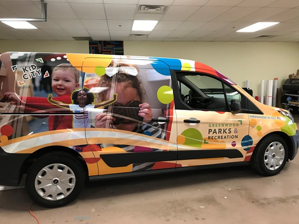 Vehicle Wrap for Greenwood City Parks and & Recreation in Greenwood,IN