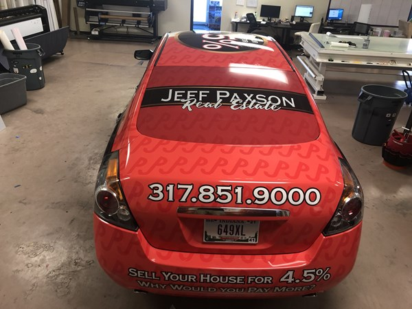 Full Vehicle Graphics Wrap for Jeff Paxson Real Estate
