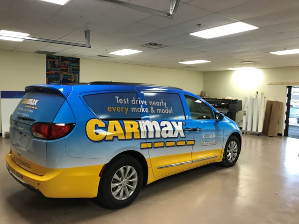 Vehicle Wrap for Carmax in Indianapolis,IN