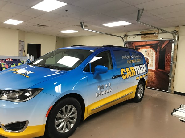 Full Vehicle Wrap for Carmax in Indianapolis, IN