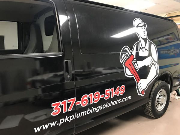 Full Vehicle Wrap for P&K Plumbing Solutions in Greenwood,IN