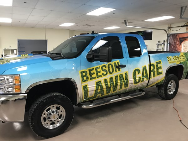 Full Vehicle Wrap for Beeson Lawn Care in Greenwood IN
