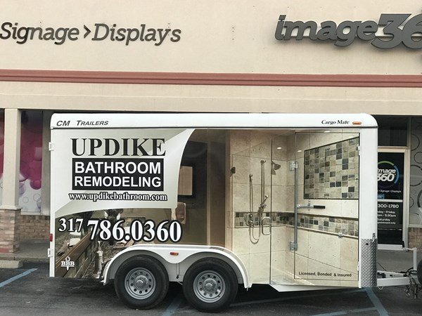 Trailer Wrap for Updike Bathroom Remodeling in Indianapolis