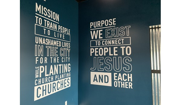 Wal Graphics for CityLife Church in Greenwood IN