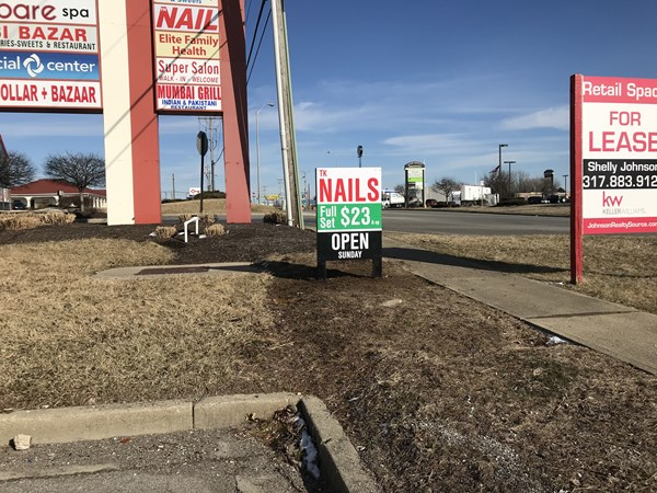 Post and Panel Sign for TK Nails in Greenwood IN
