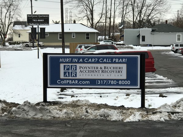 Post and Panel Cabinet Sign for PBAR in Indianapolis