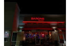 Illuminated Building Sign / Channel Letters for Barons Bar&Grill in Fisfers IN