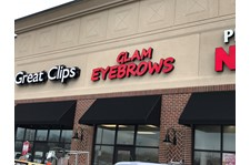 Building Sign, Channel Letters, Illuminated for Glam Eyebrows in Greenwood IN