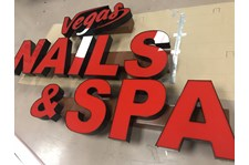 Channel Letters for Vegas Nail&Spa in Carmel, IN
