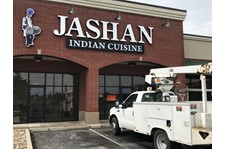 LED  Illuminated Channel Letters for Jashan Indian Cuisine in Greenwood IN
