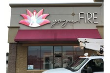 LED  Illuminated Channel Letters for Yoga Fire in Greenwood IN