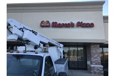 Exterior Building Sign, Illuminated Channel Letters for Marco Pizza in Greenwood, IN