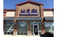 Building Sign, Channel Letters for La D Da Gourmet Popcorn Edinburgh IN
