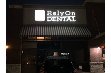 Business Signs, Channel Letters, Exterior Building Signs for RelyOn Dental in Greenwood IN