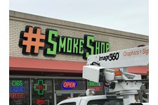 Building Sign, Channel Letters, Exterior Signs, Lighted Signs for Smoke Shop in Indianapolis IN