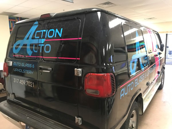 Vehicle Wrap for Action Auto Glass