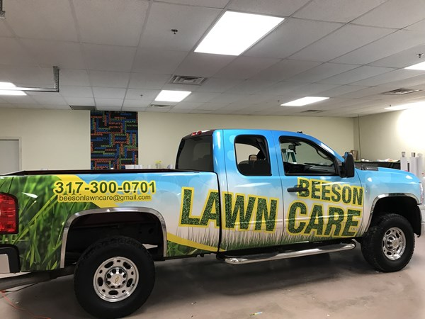 Full Vehicle Wrap for Beeson Lawn Care in Indianapolis, IN