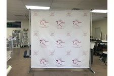 Backdrop banner, step and repeat banner
