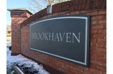 Routed Monument Sign for Brookhaven Neighbourhood in Indianapolis, IN