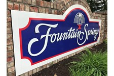 Monument Signs for Fountain Springs in Indianapolis