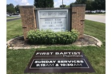 Monument Signs for First Baptist Church in Plainfield