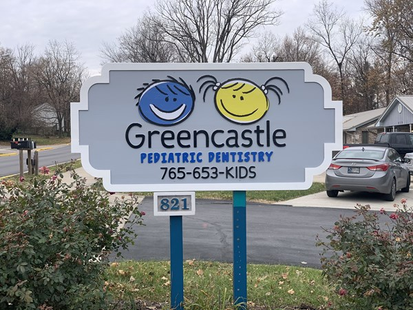 Routed Wood Sign for Greencastle Pediatric Dentistry in Greencastle IN